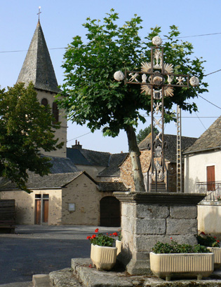 Place du village d'Albagnac